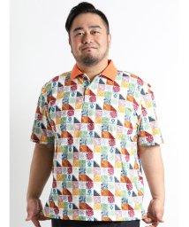 GRAND-BACK/【大きいサイズのメンズ服・グランバック】VAGIIE プリント鹿の子半袖ポロシャツ/501095433