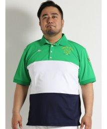 GRAND-BACK/【大きいサイズのメンズ服・グランバック】Kappa Golf カラーブロック切替半袖ポロシャツ/501095466