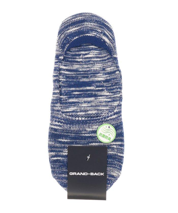 タカキュースラブミックスフットカバー(靴下)メンズ紺BIG【TAKA-Q】