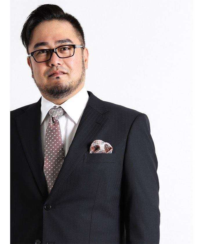 【大きいサイズのメンズ服・グランバック】ALEXANDERJULIAN MADE IN ITALY シルクポケットチーフ