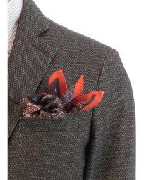 GRAND-BACK/【大きいサイズのメンズ服・グランバック】イタリア製四面切替ポケットチーフ/501095676