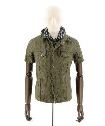 semanticdesign/ボーダーフード付きシャツアウター/501096556