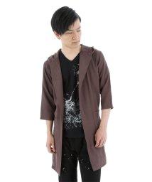 semanticdesign/メランジフード付きロングシャツアウター/501096618