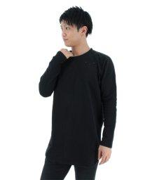 semanticdesign/ミニ裏毛ダメージ入りロングTシャツ/501096749