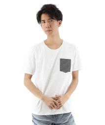 semanticdesign/コールドタッチボーダーポケット付Tシャツ/501096774
