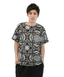 semanticdesign/幾何学柄BIGクルーネックTシャツ/501096857