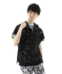 semanticdesign/ミニ裏毛ドリッピングプリントパーカー/501096863