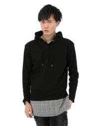 semanticdesign/ワッフル裾切替ロング丈プルパーカー/501096892