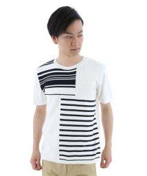 semanticdesign/パネルニット切替ボーダーTシャツ/501096939