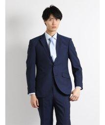 TAKA-Q/【春夏】ウォッシャブルマイクロストライプ紺2パンツスーツ A体 レギュラーフィット/501097295