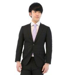 TAKA-Q/【春夏】ストレッチウォッシャブルストライプ黒2ピーススーツ Y体 レギュラーフィット/501097387