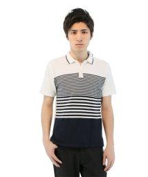 TAKA-Q/半袖前身ニット使い4段切替ポロシャツ/501097691