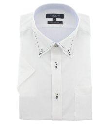 TAKA-Q/形態安定(ノーアイロン)スリムフィットドゥエボットーニボタンダウン半袖ビジネスドレスシャツ/501097888