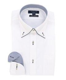 TAKA-Q/COOLMAX形態安定(ノーアイロン)スリムフィットボタンダウンビジネスドレスシャツ/501098097