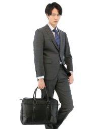 TAKA-Q/サフィアーノ調フェイクレザーブリーフケース/501098611