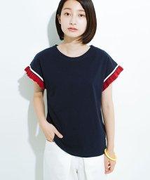 haco!/Tシャツよりちょっと華やか気分の配色フリルトップス/501094899