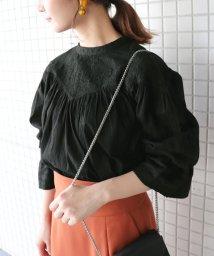 SLOBE IENA/ドビーローン刺繍ブラウス◆/501106744