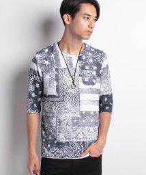 STYLEBLOCK/ペイズリー柄プリント7分袖Tシャツ×タンクトップアンサンブル/501065981
