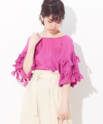 NICE CLAUP OUTLET/【natural couture】袖たくさんリボン2WAY/501085563