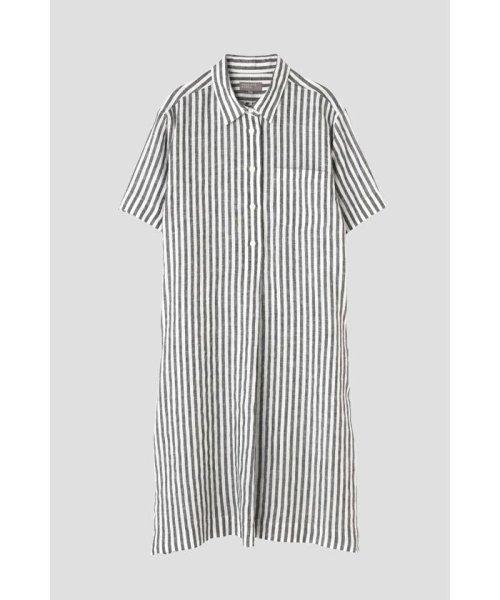 MARGARET HOWELL(マーガレット・ハウエル)/BLACK&WHITE SHIRTING LINEN/5788157031