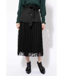 ROSE BUD/コルセットベルト付レーススカート/501107866