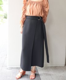 NOBLE/ロングストラップ タイトスカート◆/501108381