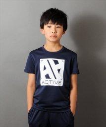 ACTIVE GLAZOS/ダブルメッシュ・ボックスロゴ半袖Tシャツ/501109390