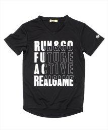 ACTIVE GLAZOS/ダブルメッシュ・バイカラープリント半袖Tシャツ/501109391