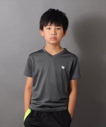 ACTIVE GLAZOS/ダブルメッシュ・バックスタープリント半袖Tシャツ/501109392