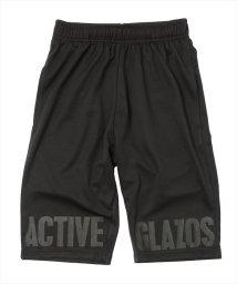 ACTIVE GLAZOS/ダブルメッシュ・裾プリントハーフパンツ/501109393