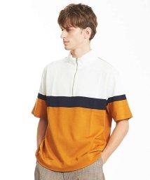 ABAHOUSE/カラーブロックハーフジップTシャツ/501109531