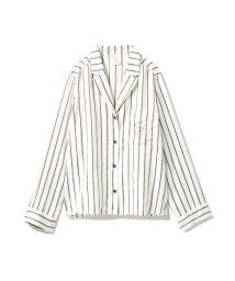 gelato pique/モチーフ刺繍ストライプシャツ/501109636
