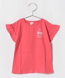 LAGOM/袖フリルチェリープリントTシャツ/501087299