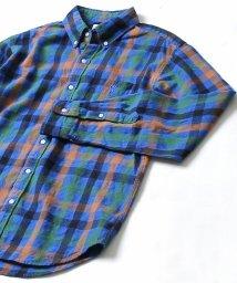 coen/ウインターリネンチェックボタンダウンネルシャツ/501110742