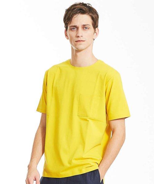 ABAHOUSE(ABAHOUSE)/カラースキーム圧着Tシャツ/00360021041
