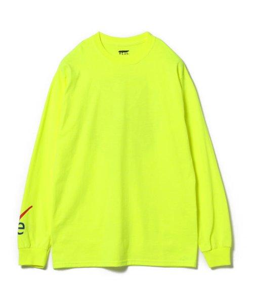 BEAMS OUTLET(ビームス アウトレット)/VEIL × Ray BEAMS / 別注 袖ロゴ ロングスリーブ Tシャツ/61140356049