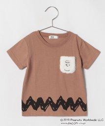 koe kids/チャーリーブラウンポケット半袖Tシャツ/501108407