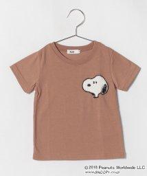 koe kids/スヌーピーもこもこアップリケ付半袖Tシャツ/501108408