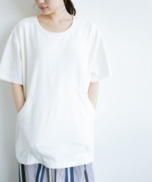 haco!/女の子バンザイプロジェクト【ブルー期】 PBPオーガニックコットンのおなかポケット付きTシャツ/501110886