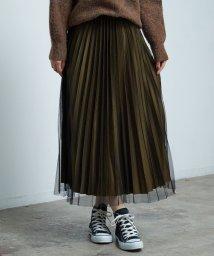 ROPE' PICNIC/【WEB限定】チュールプリーツスカート/501111172