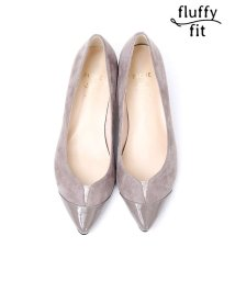 PICHEABAHOUSE/fluffy fit3.5cmVカットパンプス/501113268