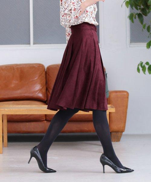NATURAL BEAUTY(ナチュラル ビューティー)/◆【TVドラマ着用】エルモザフェイクスエードスカート/0188220912