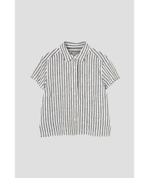 MARGARET HOWELL/BLACK&WHITE SHIRTING LINEN/501113631