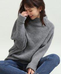 ViS/★【WEB限定】イタリー糸畦バックスリットニット/501114842