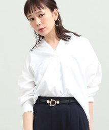 ViS/【鎌倉シャツ×ViS】バックシャンブラウス/501115584