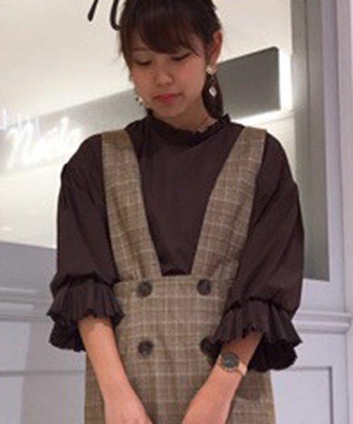 Noela(ノエラ)/【non-no10月号掲載】プリーツキャンディースリーブブラウス/5851106