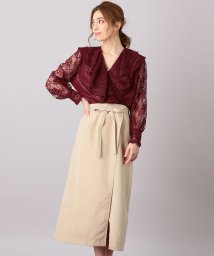 MIIA/Aラインラップ風スカート/501115769