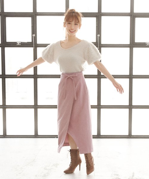 MIIA(ミーア)/Aラインラップ風スカート/32831816