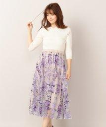 MIIA/フラワー刺繍フレアスカート/501115771