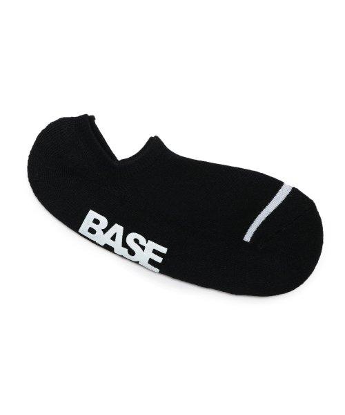 ベースステーションフットカバーソックス ブランドロゴ 星 靴下メンズブラック(119)99【BASE STATION】